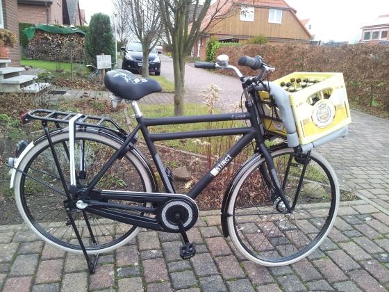 Unser Herren Hollandrad also Cargobike/Lastenrad Version